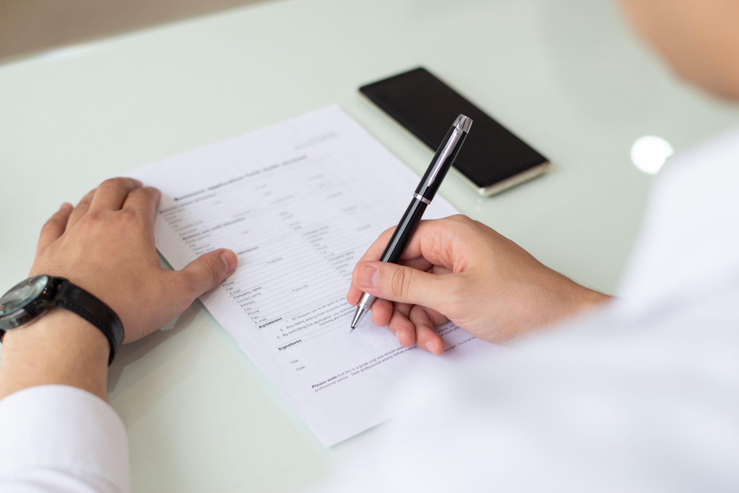 Como é o formulário de inscrição das Universidades Americanas e o que eles exigem?