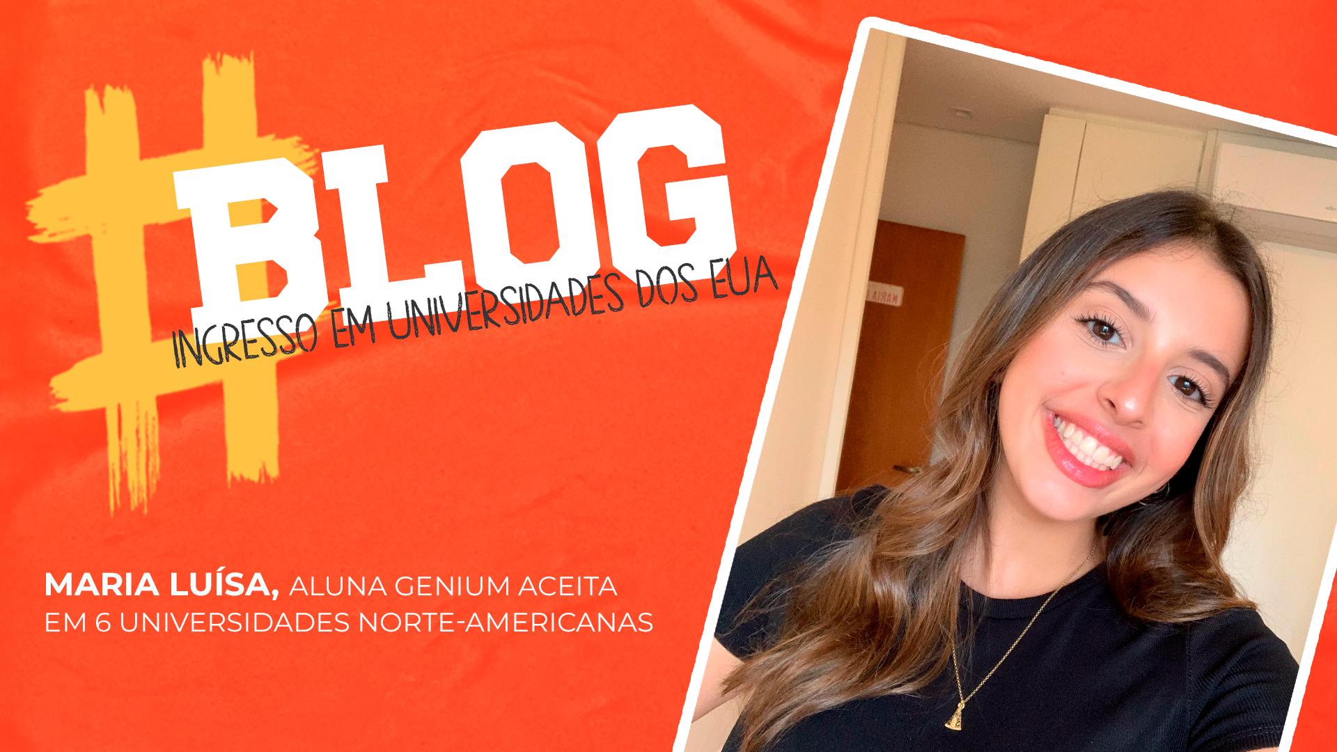 Aluna Genium High School é aceita em 6 universidades nos EUA e compartilha conosco a sua jornada!